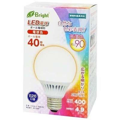 【クリックで詳細表示】オーム電機 【Ra90】LED電球 ボール球 40W相当/400lm 電球色 G70 E26 広配光タイプ・密閉器具対応 LDG5L-G7DAS20