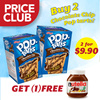 Buy 2 Chocolate Chip Poptarts (8.94oz) and get 1 FREE Nutella (350g)!