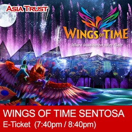 Sentosa  Wings of Time - eTicket 7:40 / 8:40PM