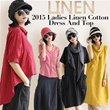 【High Quality Guarantee】2015 Linen Cotton Dresses And Tops Over 100 Design/Hot Japan Styles/Suitable for Four Season