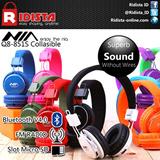NIA Q8 Headset Bluetooth//MicroSD slot//FM Radio (GARANSI 6 BULAN)