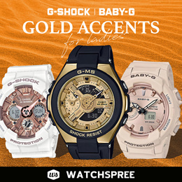 CASIO Gold Accents Collection For Ladies! BABY-G G-SHOCK G-MS. Free Shipping!
