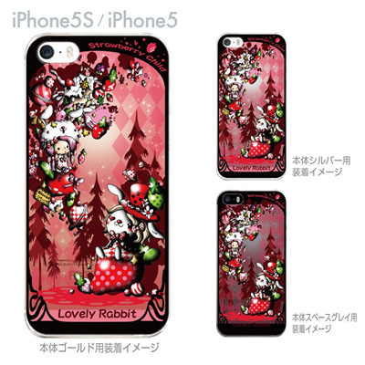 【iPhone5S】【iPhone5】【Little World】【iPhone5ケース】【カバー】【スマホケース】【クリアケース】【Straw berry child】 25-ip5s-am0050の画像