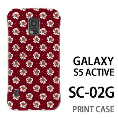 GALAXY S5 Active SC-02G 用『0317 フラワードット 赤』特殊印刷ケース【 galaxy s5 active SC-02G sc02g SC02G galaxys5 ギャラクシー ギャラクシーs5 アクティブ docomo ケース プリント カバー スマホケース スマホカバー】の画像