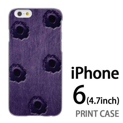 iPhone6 (4.7インチ) 用『No3 弾痕』特殊印刷ケース【 iphone6 iphone アイフォン アイフォン6 au docomo softbank Apple ケース プリント カバー スマホケース スマホカバー 】の画像