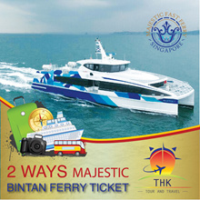 2 Way SG/Bintan-Majestic Fast Ferry Ticket.Show Confirmation Email and collect ferry. Fast and Easy