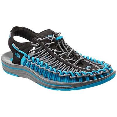 ◆即納◆キーン(KEEN) MEN UNEEK メンズ ユニーク Black/Blue-Danube 1013085 【おしゃれ サンダル シューズ 靴 黒青】【SNDL15】の画像