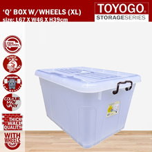 [9709]TOYOGO - (3PCS-6PCS) LONG STORAGE BOX WITH WHEELS(HOUSEHOLD STORAGE)
