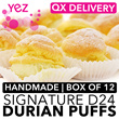 [Yez Cake] Same Day Delivery | Handmade Signature D24 Durian Puffs! | Highly Recommended by Qoo10