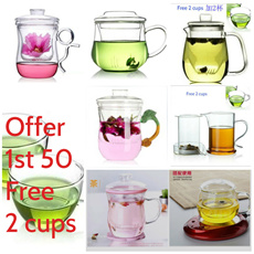 Great offer For Tea Filter Glass + Spoon FOC Valentine Birthday Creative Gift Early Bird Discount Grab Now New Arrival Korean Glass Tea Mug Cups Bottle Teacup Heart shaped Love