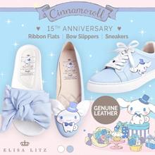 ELISA LITZ ♥ CINNAMOROLL 15TH ANNIVERSARY ♥ RIBBON FLATS | BOW SLIPPERS | SNEAKERS | Genuine Leather