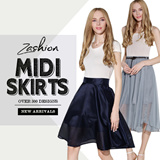 2015 UK and Korean Style fashion midi skirt/beach skirt/ Floral Chiffon Skirt/Bohemia Dress