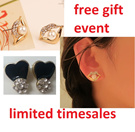★ Free gift with purchase / swan bling stones crystal Disco ball korea OL STYLE OFFICE fashion★  Over 30 DESIGNS LOVE HEART RIBBON sweet red candy colours Earrings Ring Ear Studs