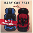 Baby Car Seat (Suitable for Children 9 months to 11 year old / Adjustable Headrest / Easy Maintenance)