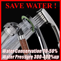 ★SAVE WATER ★[300% up Water pressure/40% water conservation showerhead/SAP shower shower head