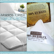 HOTEL BED MATTRESS (MATRAS) Topper | FEELS LIKE GOOSE DOWN - 100% PREMIUM MICROGEL 22 Oz EXTRA PLUSH COMFORT and PROTECT