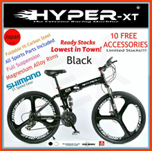♦NEWLY IMPROVED♦ HYPER-XT Premium Quality Foldable Mountain Sports Bike with Shimano Parts FREEBIES!