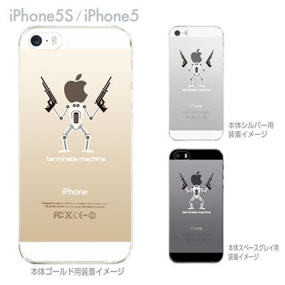 【iPhone5S】【iPhone5】【MOVIE PARODY】【iPhone5ケース】【iPhone カバー】【スマホケース】【クリアケース】【クリア】【ハードケース】【着せ替え】【イラスト】【ユニーク】【ターミネタ】 10-ip5-ca0029の画像