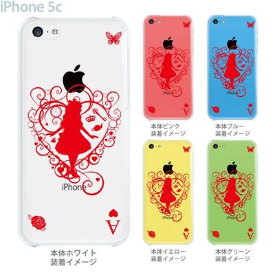 【iPhone5c】【iPhone5c ケース】【iPhone5c カバー】【ケース】【カバー】【スマホケース】【クリアケース】【クリアーアーツ】【不思議の国のアリス】【トランプ】 08-ip5c-ca0113の画像
