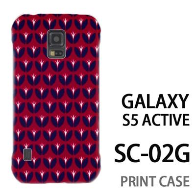 GALAXY S5 Active SC-02G 用『0317 花の芽ドット 赤』特殊印刷ケース【 galaxy s5 active SC-02G sc02g SC02G galaxys5 ギャラクシー ギャラクシーs5 アクティブ docomo ケース プリント カバー スマホケース スマホカバー】の画像