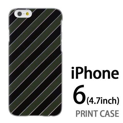 iPhone6 (4.7インチ) 用『No3 抹茶ストライプ』特殊印刷ケース【 iphone6 iphone アイフォン アイフォン6 au docomo softbank Apple ケース プリント カバー スマホケース スマホカバー 】の画像