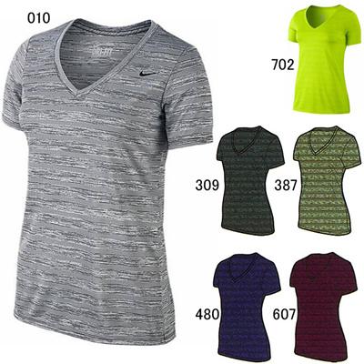 ナイキ (NIKE) ウィメンズ Vネック レジェンド S/S ヴェニエル Tシャツ 700778 [分類:エクササイズ・フィットネス ジャケット・シャツ (レディース)]の画像
