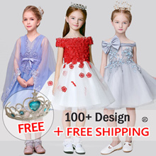 [Twinkle+Kids]  FREE Tiara Crown❤Kids Princess Dresses ❤CUTE and PRETTY flower girl Dress★ Kids★Little Girl Party Dress/ Children fashion ★party dinner wedding dress
