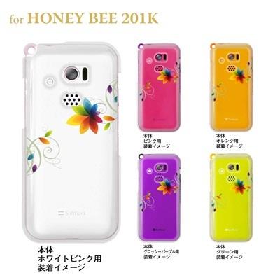 【HONEY BEE ケース】【201K】【Soft Bank】【カバー】【スマホケース】【クリアケース】【フラワー】 22-201k-ca0030の画像