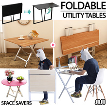 ★Multi-Purpose Utility Folding/Foldable Tables ★Dining/Computer/Laptop Table ★Storage ★Bookshelf
