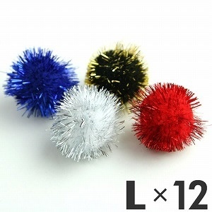 ファンタジーワールド猫用おもちゃファンタジーラメボールL12個入りLAME12L