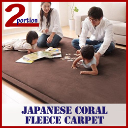 JAPANESE THICK CORAL FLEECE CARPET / 2~3CM THICK / SUITABLE FOR BEDROOM LIVING ROOM / HANDWASH