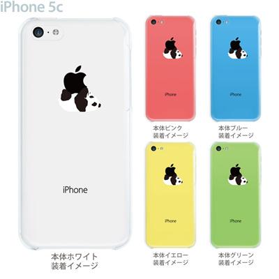 【iPhone5c】【iPhone5c ケース】【iPhone5c カバー】【クリア ケース】【iPhone カバー】【スマホケース】【クリアケース】【イラスト】【クリアーアーツ】【パンダA】 08-ip5cp-ca0019の画像