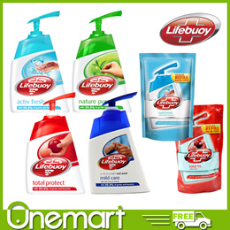 [LIFEBUOY] 200ml/180ml Hand Soap Total Protect/Active Fresh/Nature Pure