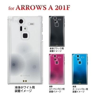 【ARROWS ケース】【201F】【Soft Bank】【カバー】【スマホケース】【クリアケース】【トランスペアレンツ】【ドット】 06-201f-ca0021nの画像