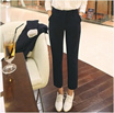 Trousers/9 length casual pants/outfit look/office lady best like fit