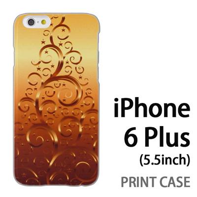 iPhone6 Plus (5.5インチ) 用『1206 蔓ツリー ゴールド』特殊印刷ケース【 iphone6 plus iphone アイフォン アイフォン6 プラス au docomo softbank Apple ケース プリント カバー スマホケース スマホカバー 】の画像