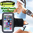 Sports Armband / Waist Pouch / Touchable Screen Arm Band / Jogging Bag Handphone Phone Wrist Belt / Transparent Touch Screen / Outdoor Exercise Cycling Running / iPhone Gym Strap / Fast Delivery
