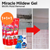 ★Miracle Mildew Gel 1+1+1/Miracle Washer Cleaning 1+1/Miracle Power Clean 600ml★99.9% removal/Bathroom/kitchen/Mildew/Washing Machine Cleaner/Carbonated soda/Silicon mold removal/gobiz-121