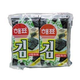 【韓国食品・韓国のり・韓国食材】■ヘピョ弁当用のり(1セット*10個*8枚)■の画像