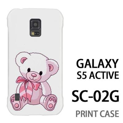 GALAXY S5 Active SC-02G 用『0612 リボンクマさん』特殊印刷ケース【 galaxy s5 active SC-02G sc02g SC02G galaxys5 ギャラクシー ギャラクシーs5 アクティブ docomo ケース プリント カバー スマホケース スマホカバー】の画像