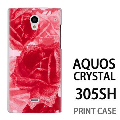 AQUOS CRYSTAL 305SH 用『0316 擦れバラ ピンク』特殊印刷ケース【 aquos crystal 305sh アクオス クリスタル アクオスクリスタル softbank ケース プリント カバー スマホケース スマホカバー 】の画像