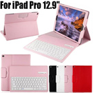For Apple iPad Pro 12.9 Detachable ABS Bluetooth Keyboard Wireless Keyboard PU Leather Case Muti-angle Stand
