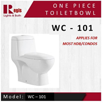 [Best Selling] [Regis] Toilet bowl Model: WC 101 One Piece WC [Suitable for most housing]