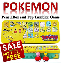 【MyShoppingPlace】 Buy 1 Free 1 ★Pokemon / Pikachu Pencil Box Game Set ★Winx Club/Hairband/Clip/Notebook/Lanyard★Animation Cartoon★Gifts/Toys/Stationery for Kids/Children ★SG Seller