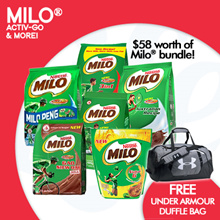 [NESTLE] MILO® Mix N Match to $58 and Get a FREE UNDER ARMOUR DUFFLE BAG!