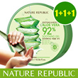 Bundle of 3 jars ★ Soothing and Moisture Aloe Vera 92% Soothing Gel 1+1+1 Nature Republic 3W Clinic The Face Shop TheFaceShop NaturEssentials imselene Snail Mucus faceshop