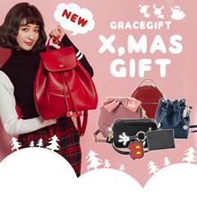 [Free Gift] Gracegift-★XMAS BAG★Disney Mickey Minnie Shoulder Bags Handbags Backpacks Christmas Gift