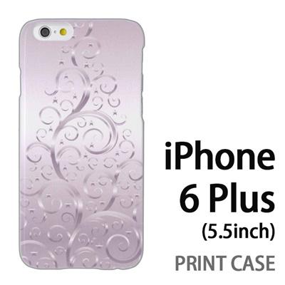 iPhone6 Plus (5.5インチ) 用『1206 蔓ツリー シルバー』特殊印刷ケース【 iphone6 plus iphone アイフォン アイフォン6 プラス au docomo softbank Apple ケース プリント カバー スマホケース スマホカバー 】の画像