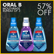 [PnG]【NS50】Oral B Mouthrinse in Bundle of 3!【58% Off!】