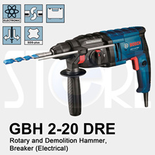 Bosch GBH 2-20 DRE Rotary Hammer Power Drill 800W for drilling wall and ceiling wood and metal. No pushing required with piston hammer effect